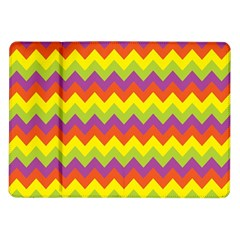 Colorful Zigzag Stripes Background Samsung Galaxy Tab 10 1  P7500 Flip Case by Simbadda