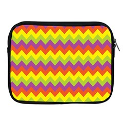 Colorful Zigzag Stripes Background Apple Ipad 2/3/4 Zipper Cases by Simbadda