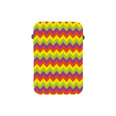 Colorful Zigzag Stripes Background Apple Ipad Mini Protective Soft Cases by Simbadda