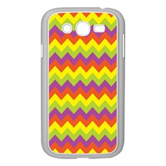 Colorful Zigzag Stripes Background Samsung Galaxy Grand Duos I9082 Case (white) by Simbadda