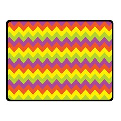 Colorful Zigzag Stripes Background Double Sided Fleece Blanket (small)