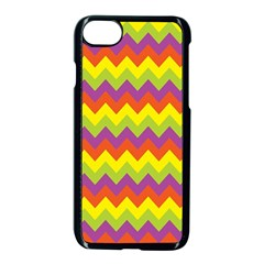 Colorful Zigzag Stripes Background Apple Iphone 7 Seamless Case (black) by Simbadda