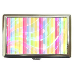 Abstract Stripes Colorful Background Cigarette Money Cases by Simbadda
