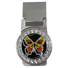 Fractal Butterfly Money Clips (cz)  by Simbadda