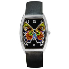 Fractal Butterfly Barrel Style Metal Watch by Simbadda
