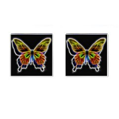 Fractal Butterfly Cufflinks (square) by Simbadda