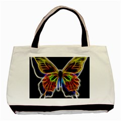 Fractal Butterfly Basic Tote Bag (two Sides) by Simbadda