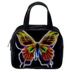 Fractal Butterfly Classic Handbags (one Side) by Simbadda