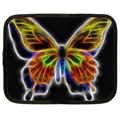 Fractal Butterfly Netbook Case (xxl)  by Simbadda