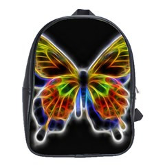 Fractal Butterfly School Bags(large)