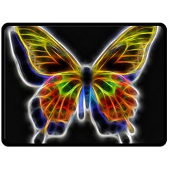 Fractal Butterfly Fleece Blanket (large)  by Simbadda