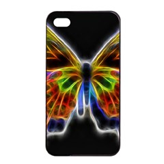 Fractal Butterfly Apple Iphone 4/4s Seamless Case (black) by Simbadda