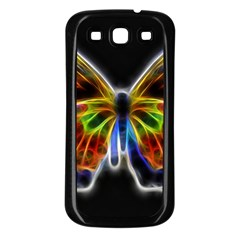 Fractal Butterfly Samsung Galaxy S3 Back Case (black)