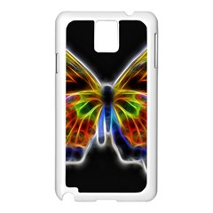 Fractal Butterfly Samsung Galaxy Note 3 N9005 Case (white) by Simbadda