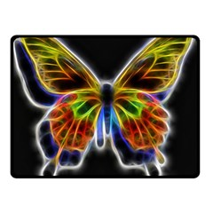 Fractal Butterfly Double Sided Fleece Blanket (small)