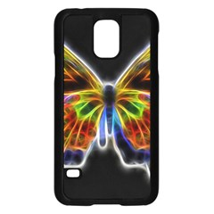 Fractal Butterfly Samsung Galaxy S5 Case (black) by Simbadda