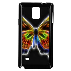 Fractal Butterfly Samsung Galaxy Note 4 Case (black) by Simbadda