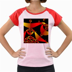 Fractal Ribbons Women s Cap Sleeve T Shirt by Simbadda