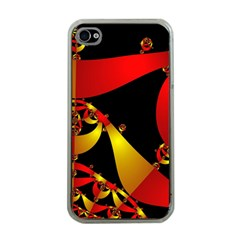 Fractal Ribbons Apple Iphone 4 Case (clear) by Simbadda