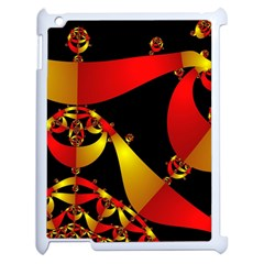 Fractal Ribbons Apple Ipad 2 Case (white) by Simbadda