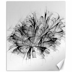 Fractal Black Flower Canvas 20  X 24   by Simbadda