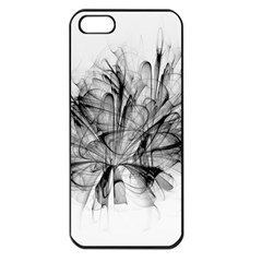 Fractal Black Flower Apple Iphone 5 Seamless Case (black) by Simbadda