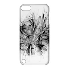 Fractal Black Flower Apple Ipod Touch 5 Hardshell Case With Stand by Simbadda