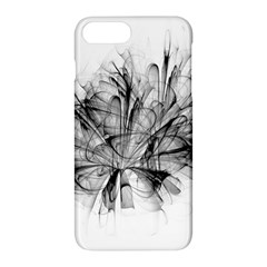 Fractal Black Flower Apple Iphone 7 Plus Hardshell Case