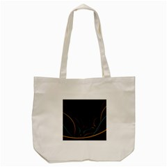 Fractal Lines Tote Bag (cream)