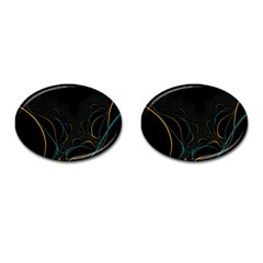 Fractal Lines Cufflinks (oval) by Simbadda