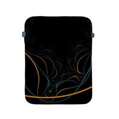Fractal Lines Apple Ipad 2/3/4 Protective Soft Cases by Simbadda