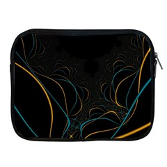 Fractal Lines Apple Ipad 2/3/4 Zipper Cases by Simbadda