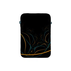 Fractal Lines Apple Ipad Mini Protective Soft Cases by Simbadda