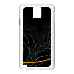 Fractal Lines Samsung Galaxy Note 3 N9005 Case (white)