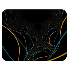 Fractal Lines Double Sided Flano Blanket (medium)  by Simbadda