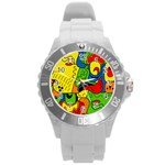Mexico Round Plastic Sport Watch (L) Front
