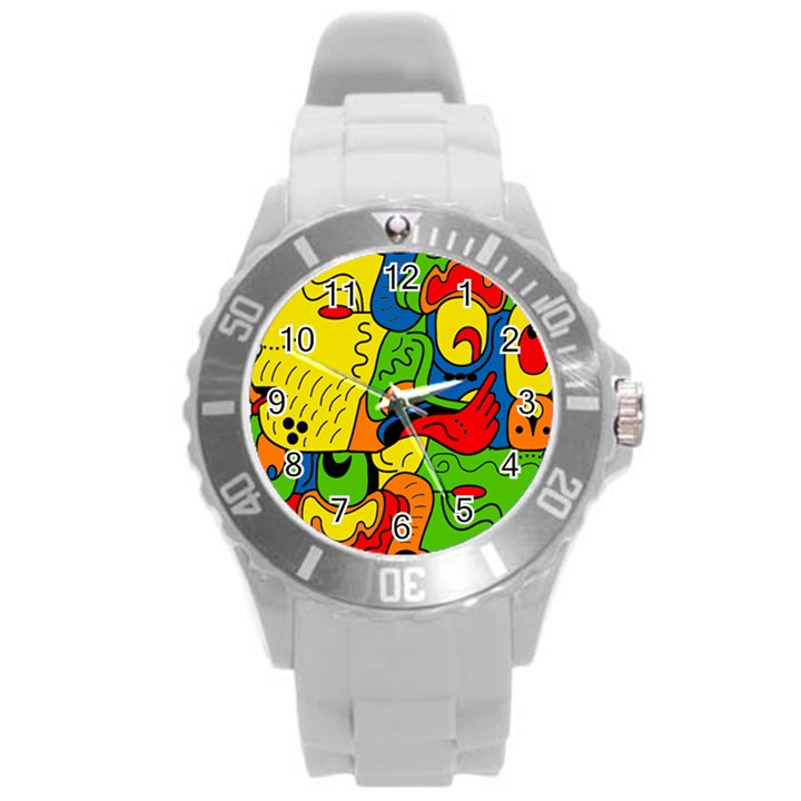 Mexico Round Plastic Sport Watch (L)
