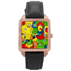 Mexico Rose Gold Leather Watch