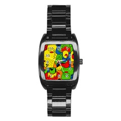 Mexico Stainless Steel Barrel Watch by Valentinaart