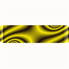 Yellow Fractal Large Bar Mats by Simbadda