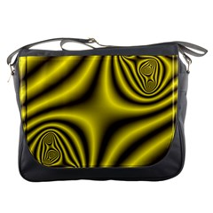 Yellow Fractal Messenger Bags by Simbadda
