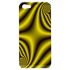 Yellow Fractal Apple Iphone 5 Hardshell Case by Simbadda