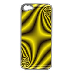 Yellow Fractal Apple Iphone 5 Case (silver)