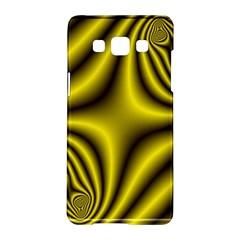 Yellow Fractal Samsung Galaxy A5 Hardshell Case  by Simbadda