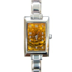 Yellow Flower Rectangle Italian Charm Watch by Simbadda
