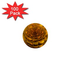 Yellow Flower 1  Mini Buttons (100 Pack)