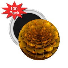 Yellow Flower 2 25  Magnets (100 Pack)  by Simbadda