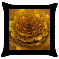Yellow Flower Throw Pillow Case (black) by Simbadda