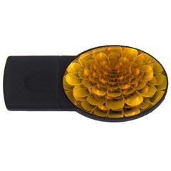 Yellow Flower Usb Flash Drive Oval (2 Gb) by Simbadda
