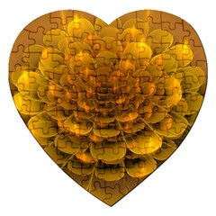 Yellow Flower Jigsaw Puzzle (heart) by Simbadda